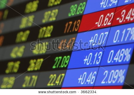 stock photo : Stock Quotes, Real time quotes at the stock exchange