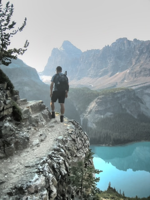 Hiking the paths from Yukness Ledge to Lake Opabin, Yoho National Park