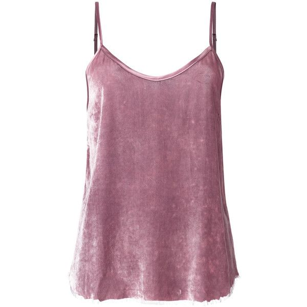 Rta cami top (£275) ❤ liked on Polyvore featuring tops, cami top, purple camisole top, cami tank, purple camisole and purple cami top