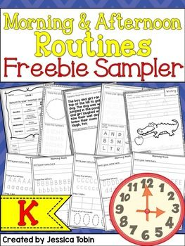 Kindergarten Morning and Afternoon Routine FREEBIE- one full week of morning work and homework to try out