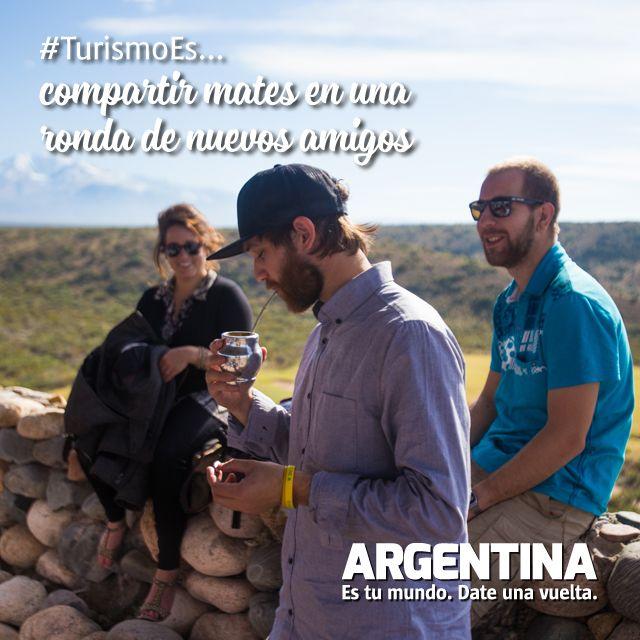 #Turismoes... compartir mates en una ronda de nuevos amigos!  #DiaMundialDelTurismo #Argentina #WTD2015 #ArgentinaEsTuMundo Date una vuelta!