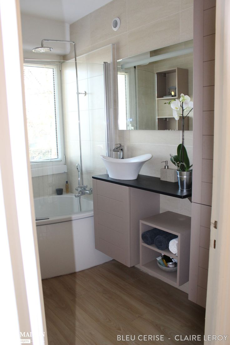 Une petite salle de bains zen id es pour refaire ma salle de bain pinterest zen et projets for Petite salle de bain zen et naturelle