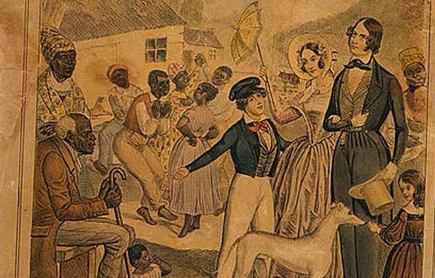 Propaganda: Slaves and their masters: Edward Williams Clay/Library of Congress