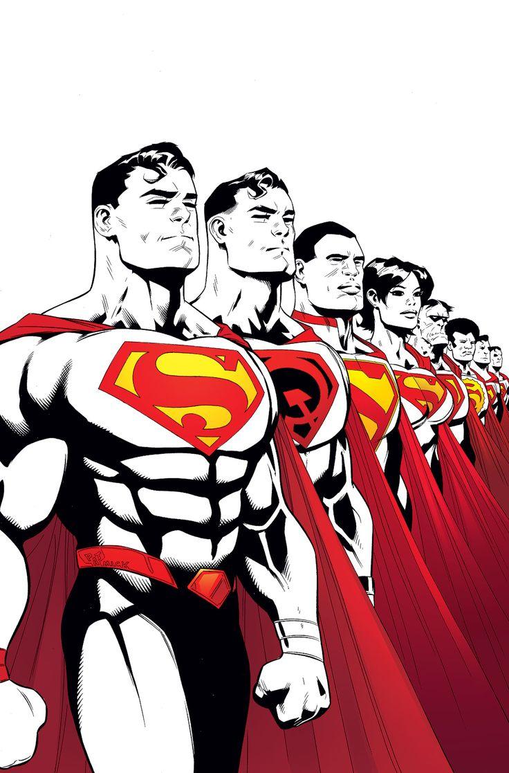 #Superman #Fan #Art. Superman. Multiplicity, Part One. Vol.4#14 Cover) By: Patrick Gleason & Mick Gray & John Kalisz. (THE * 5 * STÅR * ÅWARD * OF: * AW YEAH, IT'S MAJOR ÅWESOMENESS!!!™)[THANK U 4 PINNING!!!<·><]<©>ÅÅÅ+(OB4E)