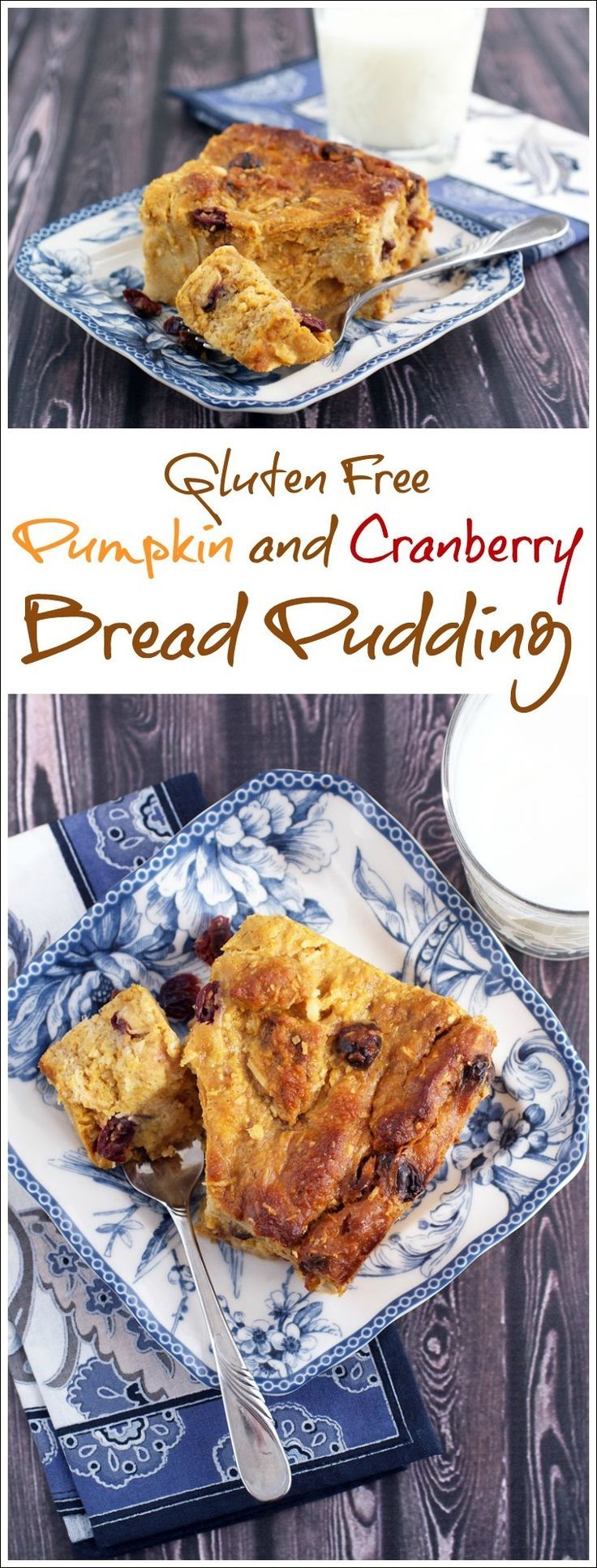 This pumpkin bread purdding is terrific for fall brunch parties or Thanksgiving breakfast get togethers. Get the recipe for Gluten Free Pumpkin and Cranberry Bread Pudding at This Mama Cooks! On a Diet