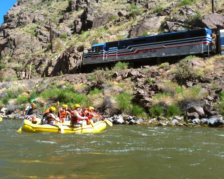 White water rafting the Royal Gorge in Canon City, Colorado.