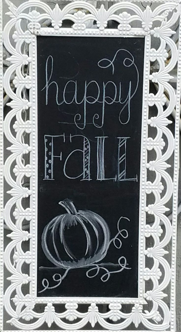 Fall chalkboard art, autumn, pumpkin