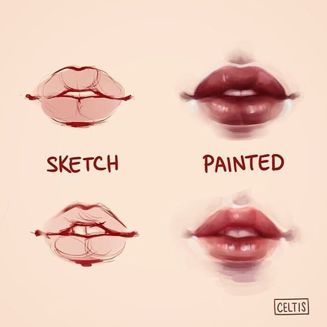 "12.1k Likes, 30 Comments - THE BEST ART OF INSTAGRAM (@arts_promote) on Instagram: ""lip study by @celtis_ Follow @arts_promote for more . Follow my friends ✔ @arrt_shares ✔…"""