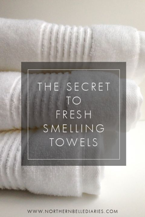 the secret to fresh smelling towels