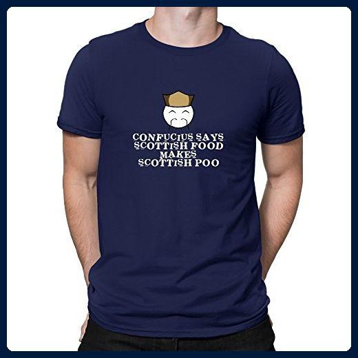 Teeburon Confucius says Scotland food makes Scotland poo! T-Shirt - Food and drink shirts (*Amazon Partner-Link)