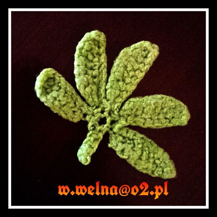 Leaf :)  http://welna.blog.onet.pl  #Leaf #green #handmade #crochet #summer
