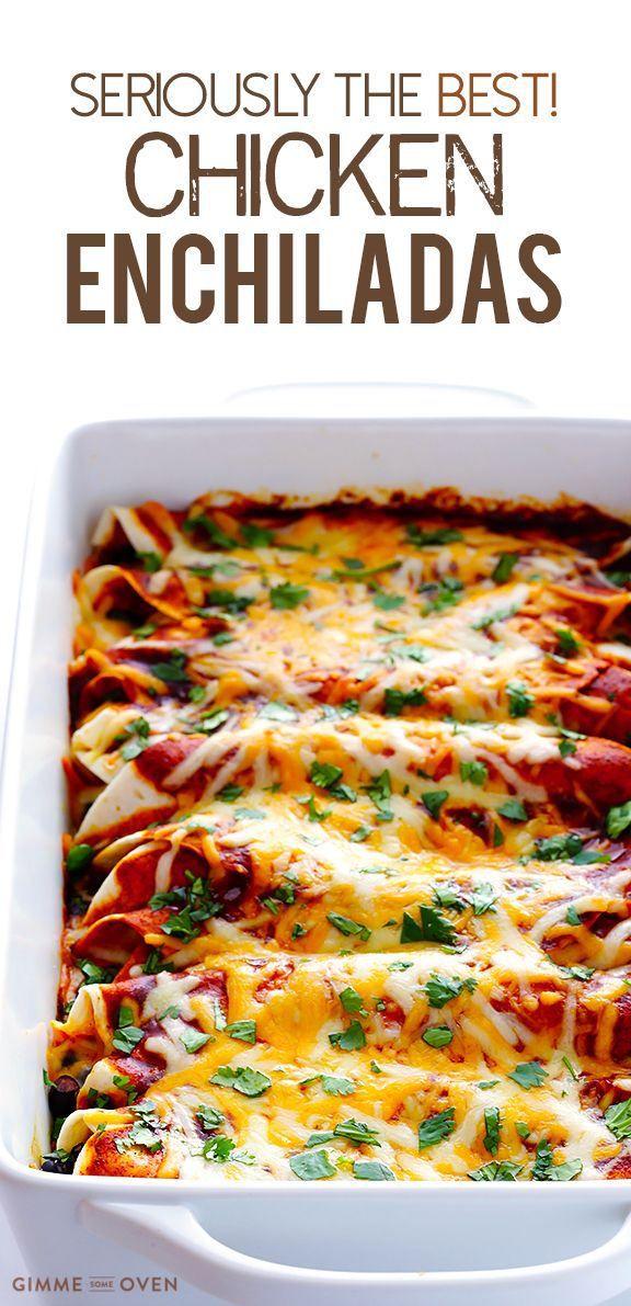 Best Chicken Enchiladas Ever Chicken Recipes Pinterest Enchiladas Chicken Enchiladas And