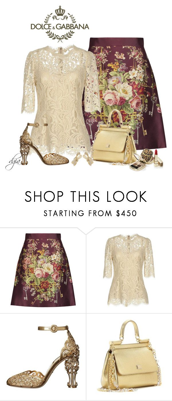 """""""Dolce & Gabbana total look"""" by dgia ❤ liked on Polyvore featuring Dolce&Gabbana"""