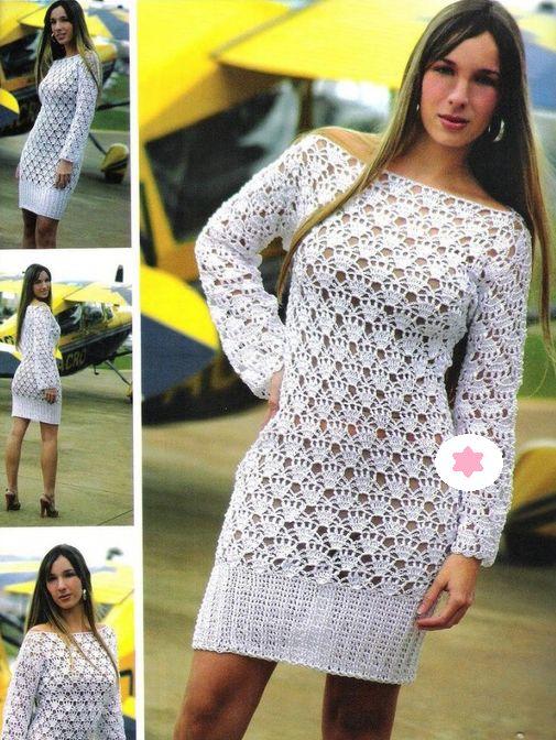 Lujo Patrones Del Vestido De Boda De Crochet Libre Colección de ...