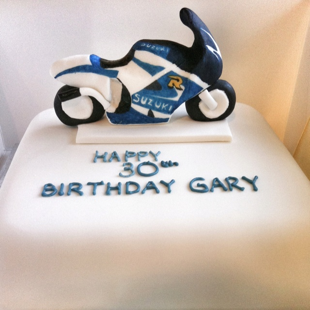 Pictures Of A Bike Cake