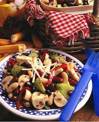 Fresh Mushroom Three Bean Salad http://wm13.walmart.com/Cook/Recipes/22075/