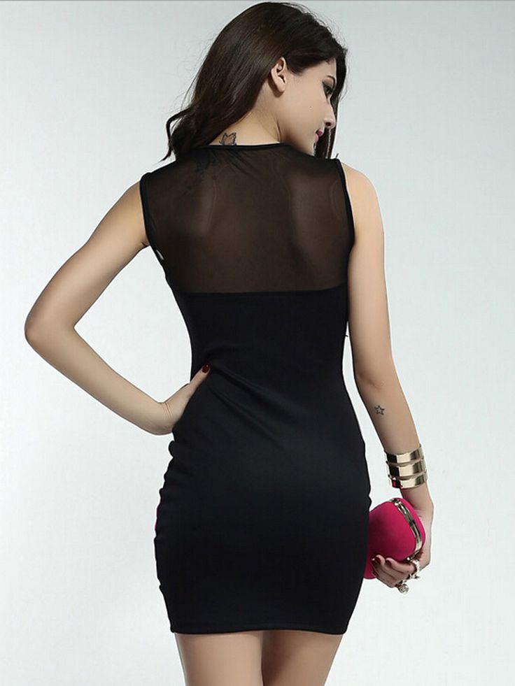 Sleeveless Bodycon Dress With Open | Schiene scoperte, Prodotti di