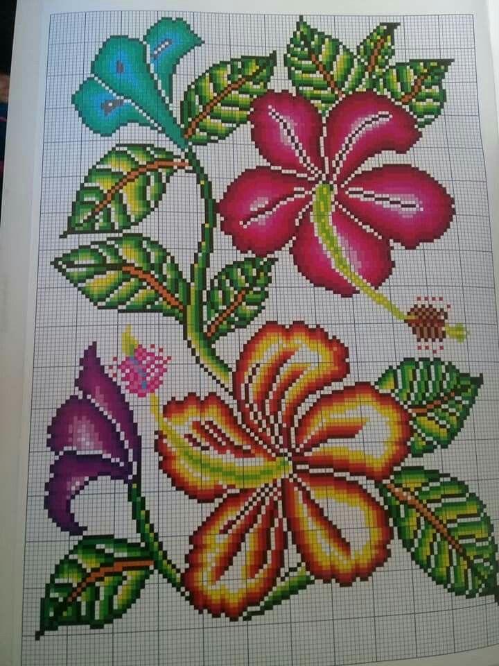 Art Ponto Cruz Gratis Rosa Ponto Cruz Ponto Cruz Flores Revista