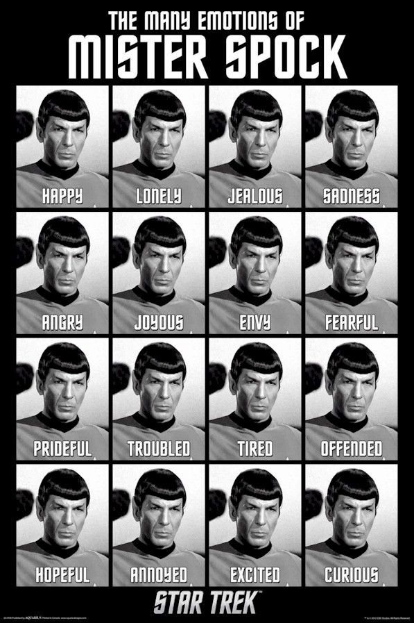 The many emotions of Spock. Leonard Nimoy Star Trek Original