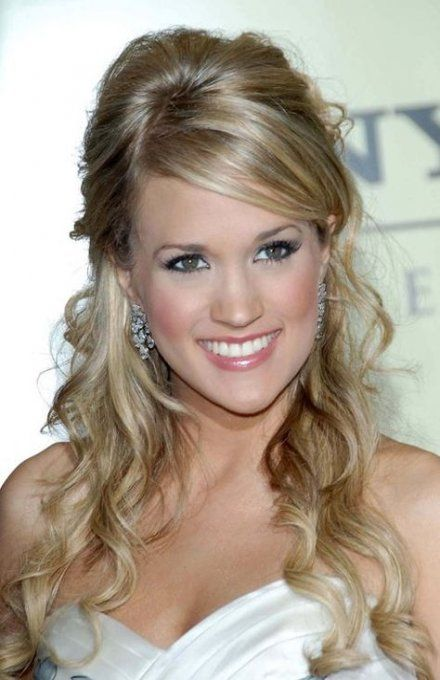 Wedding ceremony hairstyles half up half down with bangs promenade 58 Concepts