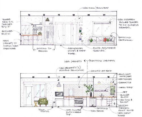 Interior elevations by Casey Keasler