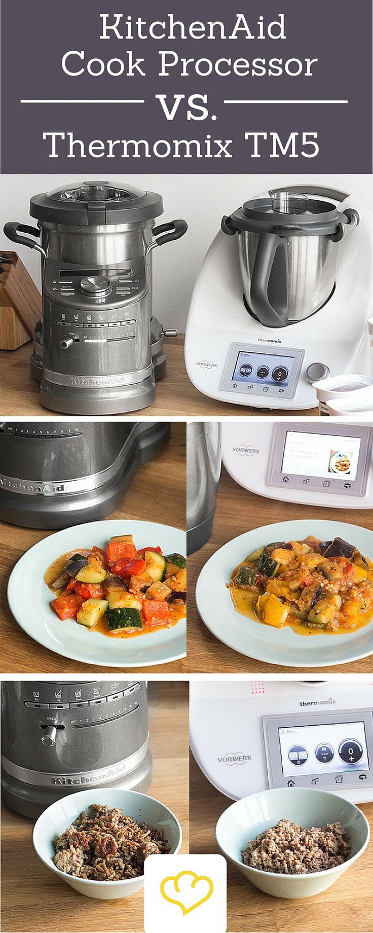 Mit dem KitchenAid Cook Processor bekommt der Thermomix TM5 einen neuen, ernstzunehmenden Konkurrenten. Wir haben die beiden Küchenmaschinen gegeneinander antreten lassen.