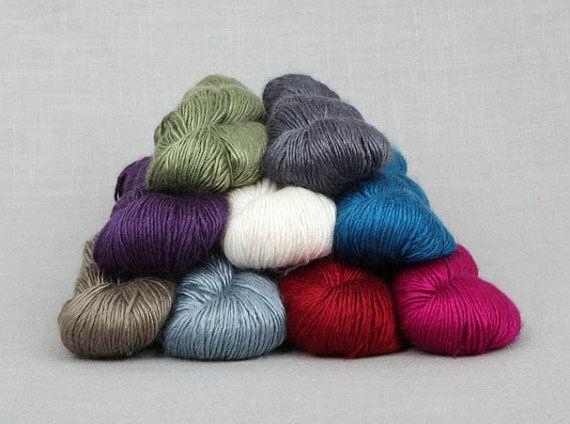 Fyberspates Scrumptious DK Worsted Yarn Silk/Merino Wool by tatsy