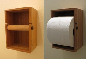 SO simple but nice... Dragan bathroom box turned toilet paper holder. - IKEA Hackers