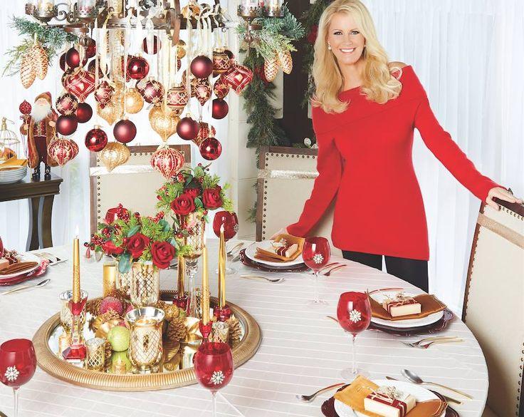 Sandra Lee's Christmas Tablescape   Sandra Lee Semi-Homemade in 2019    Pinterest   Christmas, Sandra lee recipes and Christmas cooking. - Sandra Lee's Christmas Tablescape Sandra Lee Semi-Homemade In 2019