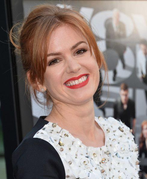 Isla Fisher Red Lipstick Isla Fisher Hair Inspiration Hair Beauty