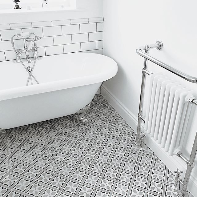 Mr Jones From Laura Ashley The Heritage Collection Is A Classic Geometric Square Tile Presented In Traditional Bathroom Small Bathroom Bathroom Interior Design