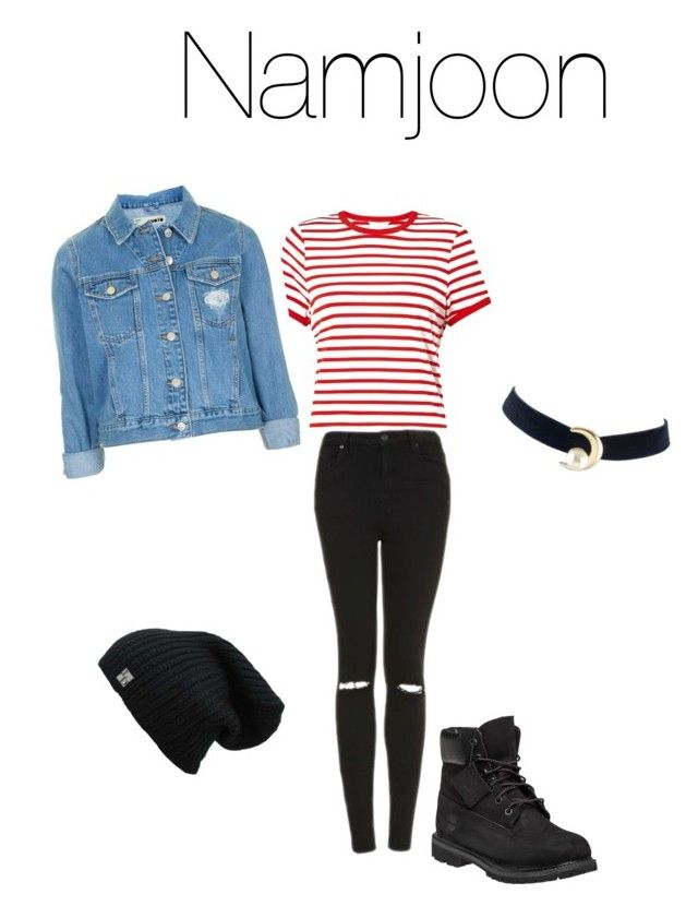 Namjoon by nataliejohnson688 on Polyvore featuring polyvore, Miss Selfridge, Topshop, Timberland, fashion, style and clothing