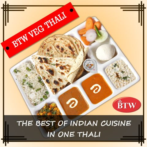 Delicious, Nothing else!! Enjoy Veg Thali at BTW Outlets. #BTW #foodporn #foodtalkindia #foodmadness #thali #indianstreetfood #delhifoodie #foodie #indiansnacks #indianfood #traditionalfood #thalifans #tastesofindia #lunchtime #vegetarian #indiancuisine #indianlunch #indiankhana #restaurant #dinner #eat #hungry