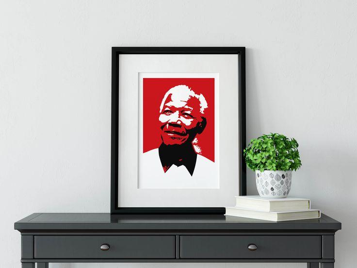 NELSON MANDELA - Framed Illustration