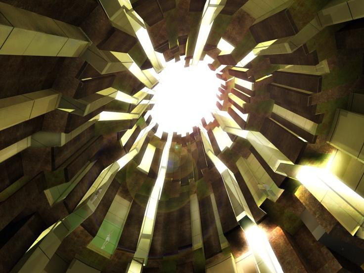 Interior de la nueva cúpula neo-barroca para un centro multidisciplinar artístico en el castillo de Sant Ferran en Figueras