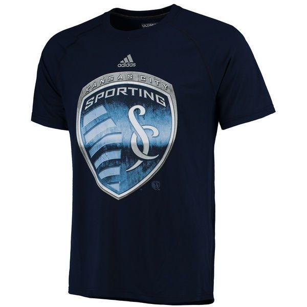 Sporting Kansas City adidas Chromed Logo Ultimate climalite T-Shirt - Navy - $34.99