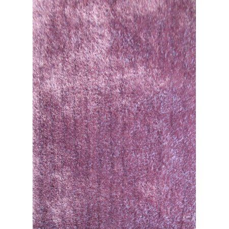 Modern Solid Purple Area Rug Hand Tuffted 100 Percent Polyester. (5 Feet x 7 Feet)