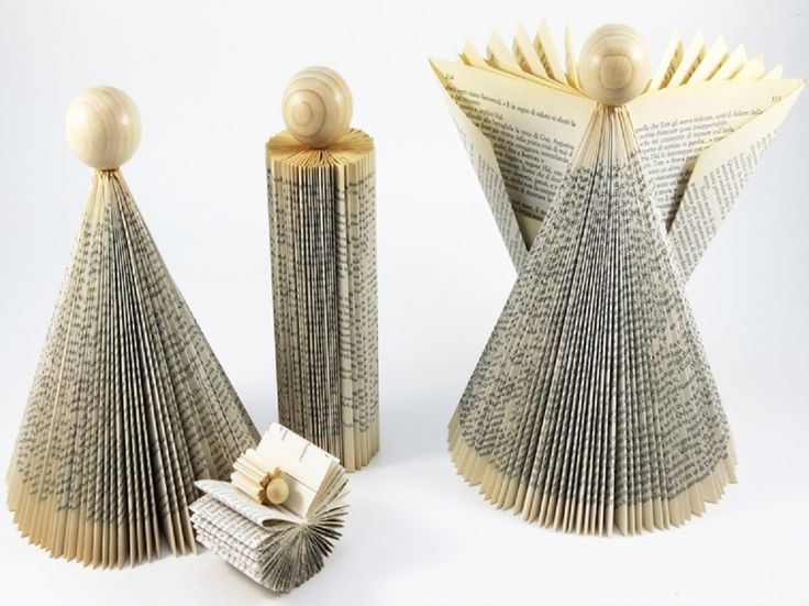 Nativity from Recycled Books