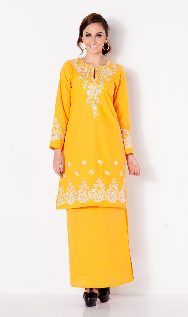 First Lady Cotton Beaded embroidery modern baju kurung