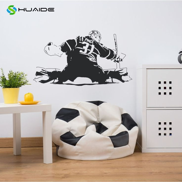 HUAIDE Wall Art Decal Carey Price 31 Professional Ice Hockey Goaltender Wall Stickers For Kids Rooms Overwatch Poster Mural A72