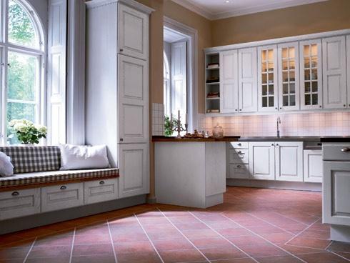 Fint golv och trevlig bänk