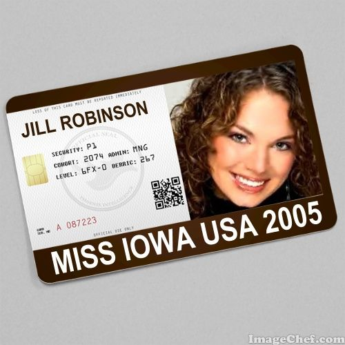 Jill Robinson Miss Iowa USA 2005 card