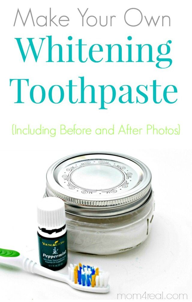 Make Your Own Whitening Toothpaste