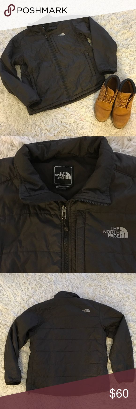 The North Face Puffer Coat This North Face Men's Puffer, Primaloft Coat is in excellent condition!  It is perfect for outerwear or layering. It is a dark brown color making it very neutral.  It does have a very small tear on the top,  back corner (see photo). The North Face Jackets & Coats Puffers