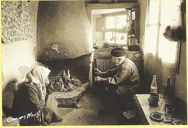 Old kitchen - George Meis; taken from a souvenir calendar of Crete; Info available on calendar here: http://www.cretanvista.gr/goodreading5.htm