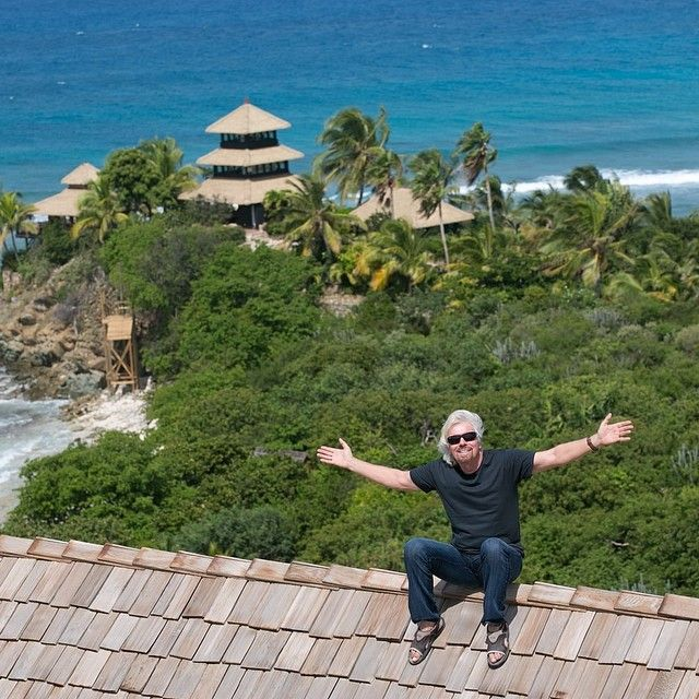 """Many thanks for all your wonderful birthday messages. Spending the day with loved ones on Necker. Happy Friday!"""