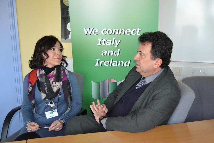 """""""FIBI connect people and cultures"""" - Francesca with Carlos Garcia De Alba - Ambassador of Mexico in Ireland"""