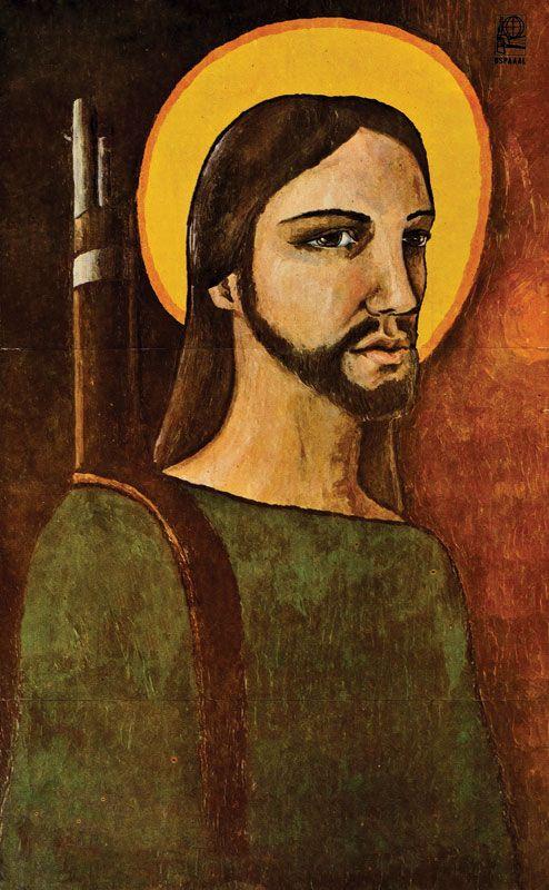 """Título: """"Cristo guerrillero"""" (1970) Autor: Camilo Torres Restrepo Cartel Cubano"""