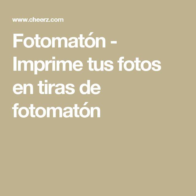 Fotomatón - Imprime tus fotos en tiras de fotomatón