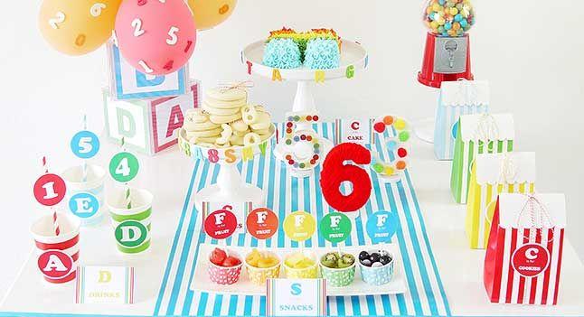 ABCs & 123s Birthday Party  #BirthdayParty #ClownParty